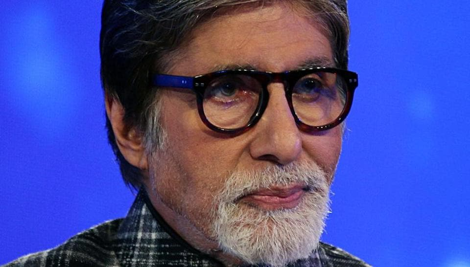 Bollywood actor Amitabh Bachchan during the launch of the Mission Paani campaign in Mumbai.