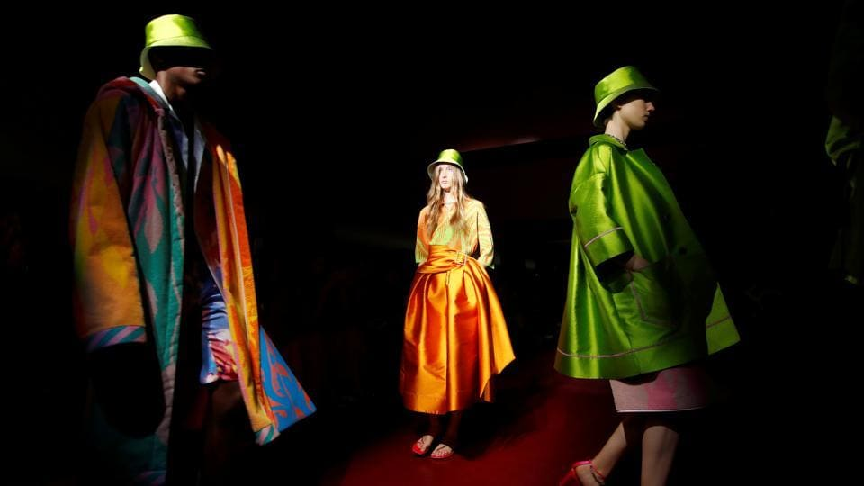 Models present creations from the Peter Pilotto Spring/Summer 2020 collection during fashion week in Milan, Italy, September 18, 2019. (Representational)