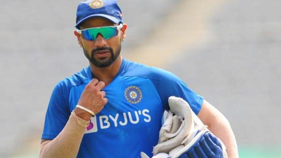 India cricket team player Shikhar Dhawan during a practice session ahead of the 2nd T20 match against South Africa, at IS Bindra PCA Stadium, in Mohali. (Photo by Keshav Singh / Hindustan Times)