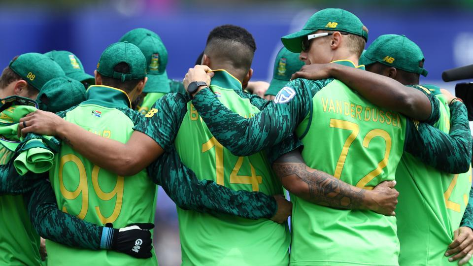 File photo of South African team in a huddle ahead of a match.