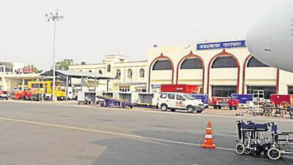 Nine flights bound for Patna were diverted and  the departures of three of flights were delayed after airport operations were shut down for three hours.