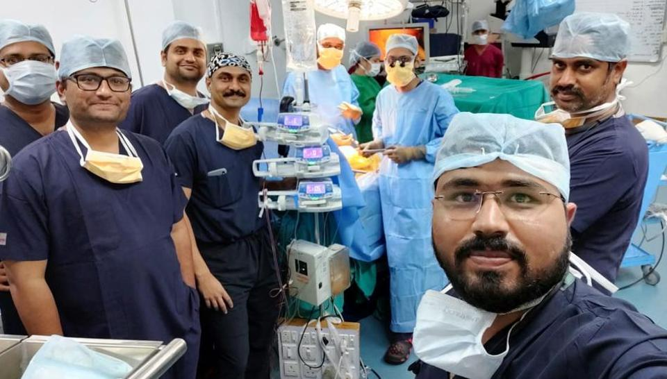 According to hospital authorities, this is the first time five traansplants were simultaneously performed by units of Sahyadri hospital.