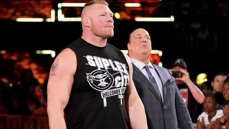 Brock Lesnar along with Paul Heyman.