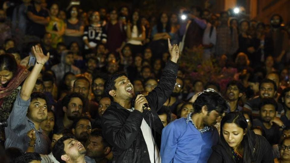 FormerJNU students' union president Kanhaiya Kumar and others have been charged with sedition for allegedly raising anti-national slogans during an event in February 9, 2016.