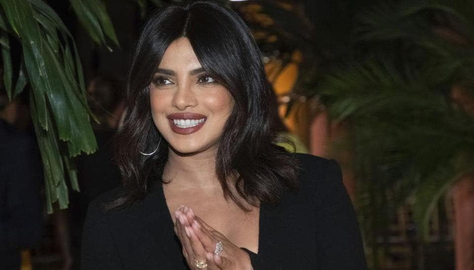 Priyanka Chopra attends the Oscar de la Renta show during NYFW Spring/Summer 2020.