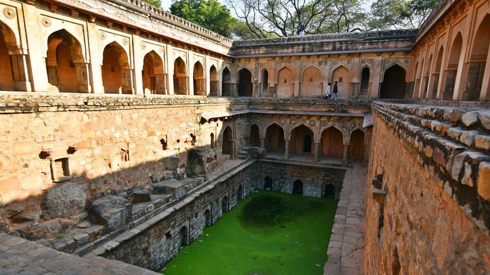 The Rajon ki Baoli is among 70 monuments that dot the Mehrauli Archaeological Park, next to the world heritage site, Qutub Minar.