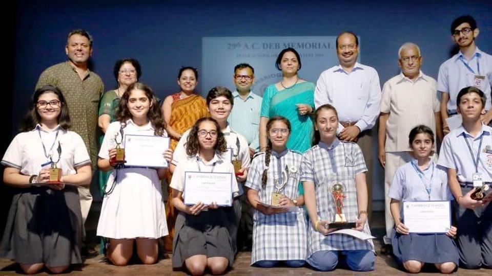 Winners of the AC Deb Memorial Inter-School Oration Contest