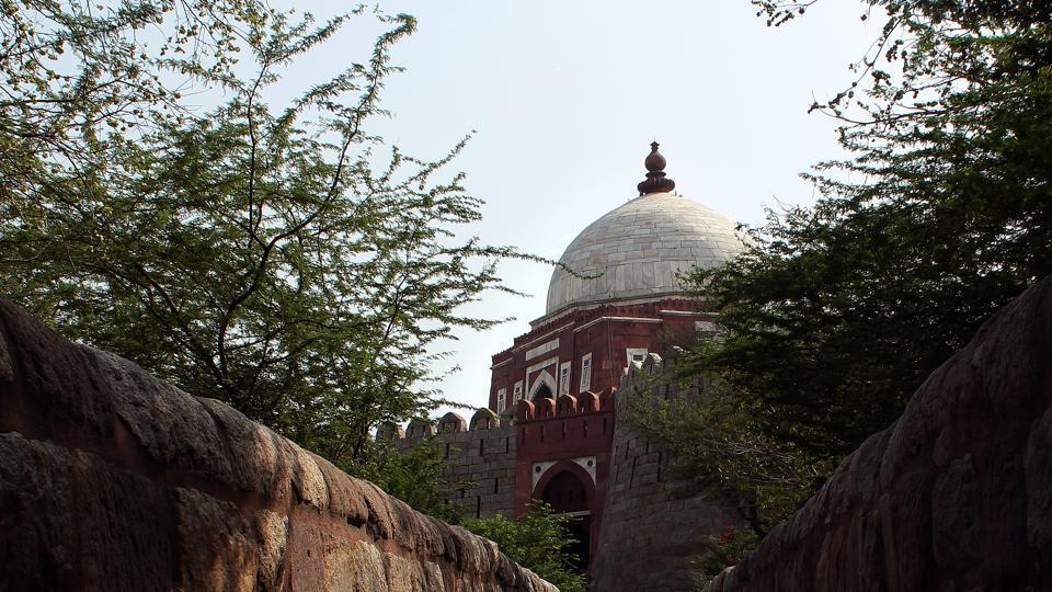 World Heritage Day 2019 special: The Ghiyas ud-Din Tughluq Tomb opposite Tughlakabad Fort.