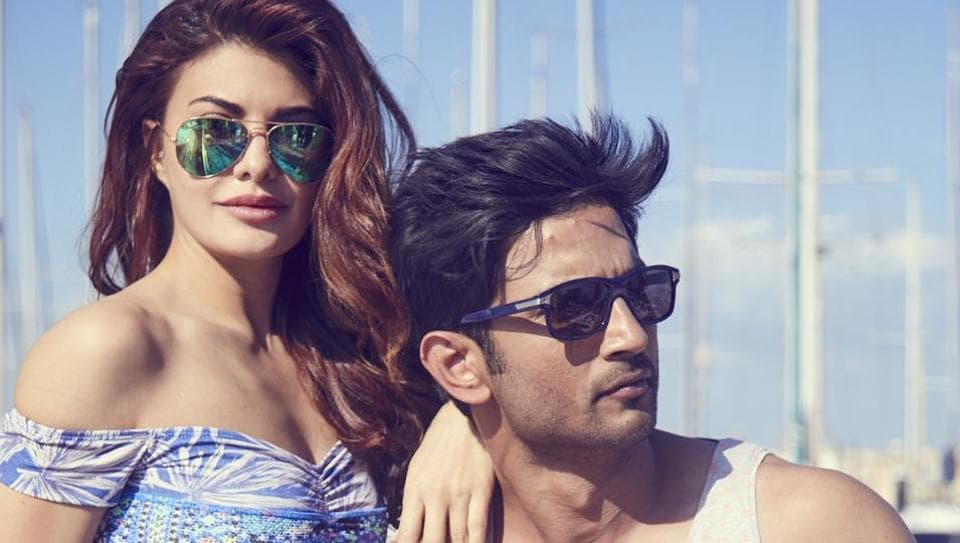 Sushant Singh Rajput and Jacqueline Fernandes in a still from Drive.