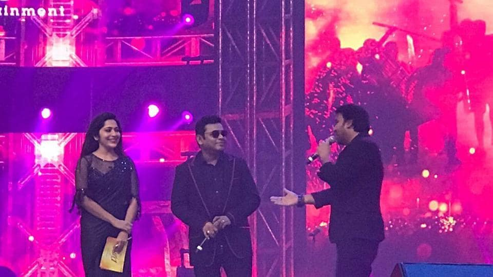 AR Rahman was also present at the audio launch for Vijay's Bigil.
