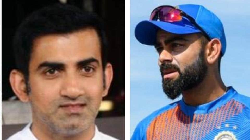 Gautam Gambhir (L) Virat Kohli (R)