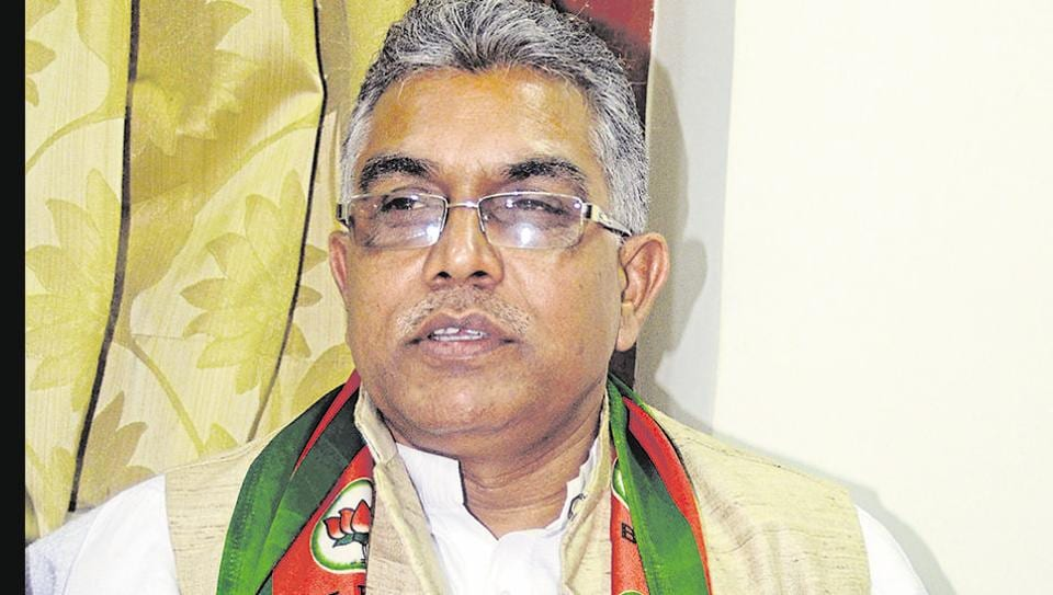 West Bengal BJP president Dilip Ghosh on Friday alleged that the Jadavpur University campus has become a hub of anti-nationals and communists (Photo by Prateek Choudhury/Hindustan Times)