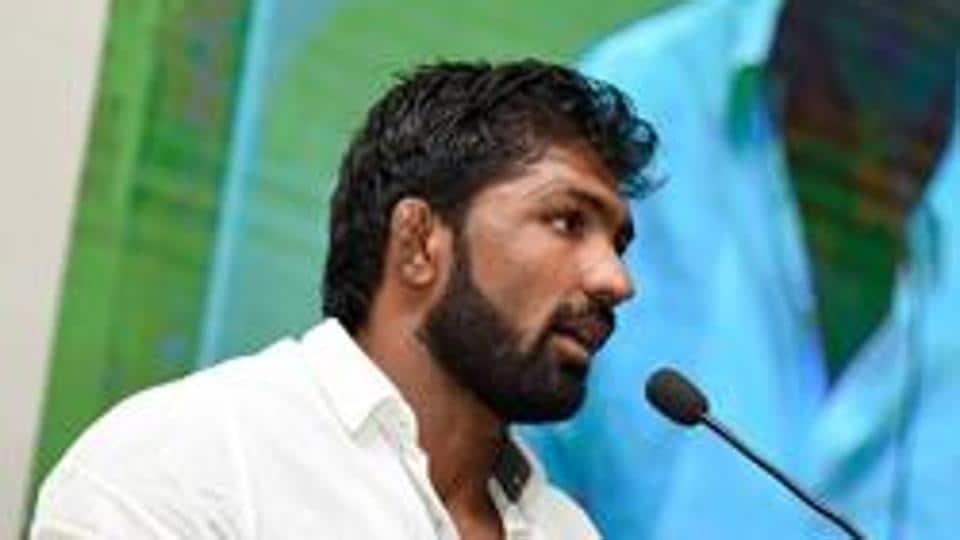 Indian freestyle wrestler Yogeshwar Dutt