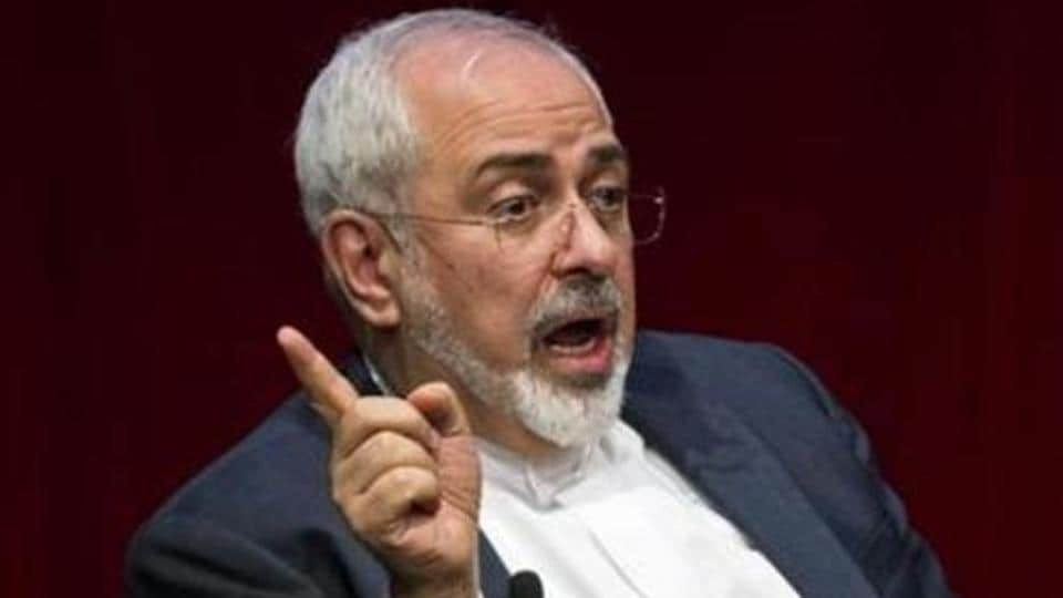 "Iran's foreign minister questioned US plans for a coalition for a ""peaceful resolution"" in the Middle East"