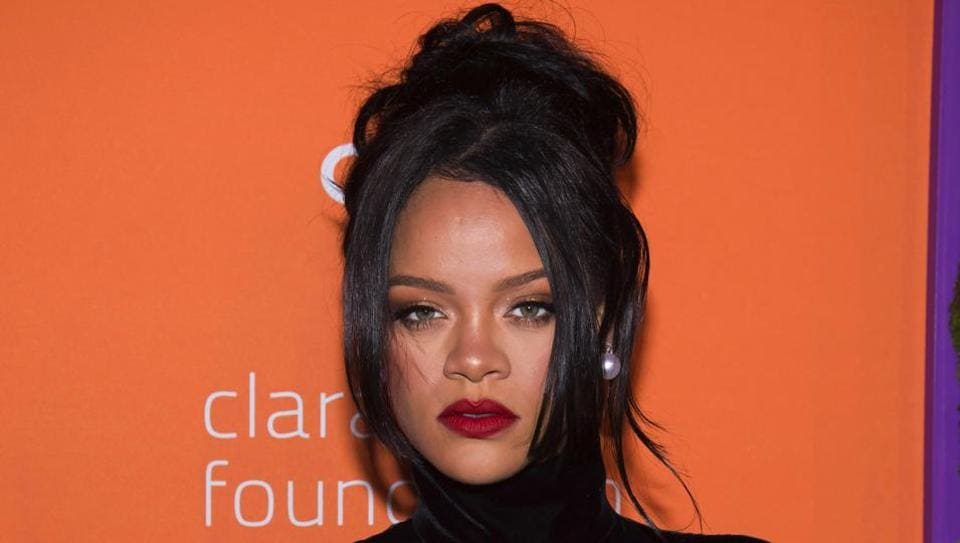 FILE - This Sept. 12, 2019 file photo shows Rihanna at the 5th annual Diamond Ball benefit gala in New York. Rihanna believes women of all shapes, colours and sizes should be celebrated, and that spirit of inclusion has made her lingerie and beauty lines massive successes. Her mission will be showcased Friday as Amazon Prime streams her New York Fashion Week show for Savage X Fenty in more than 200 countries and territories. (Photo by Charles Sykes/Invision/AP, File)