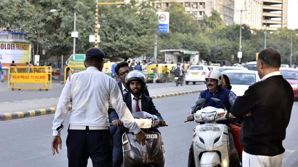 Noida police said that they have recorded 30% fall in the number of fines issued in first 15 days of this month in comparison to the corresponding period in August.