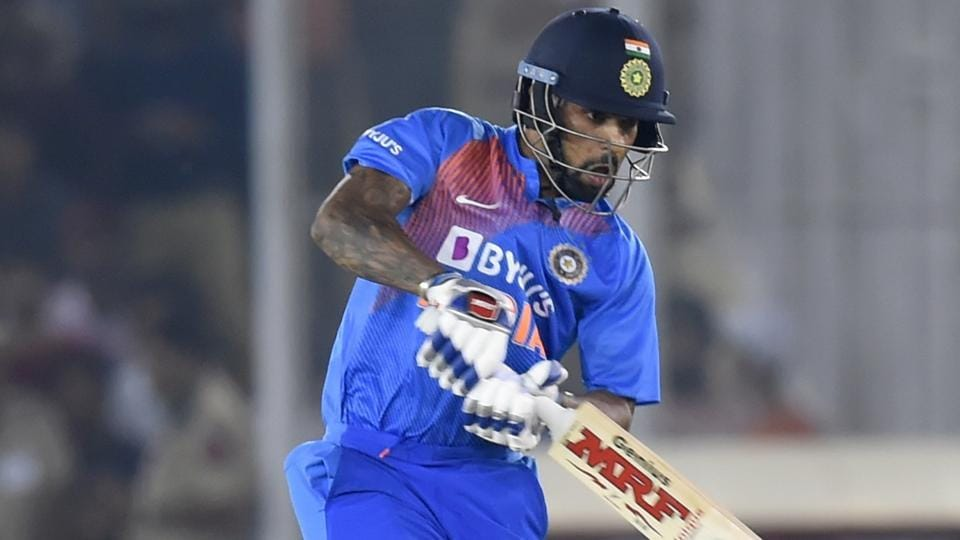 File photo of Shikhar Dhawan in action.\