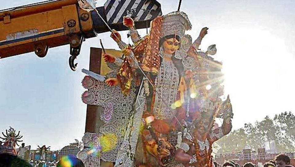 The move is aimed at keeping the Yamuna river clean as well as at helping reduce traffic chaos, as puja committees would need not go anywhere to immerse the idols.
