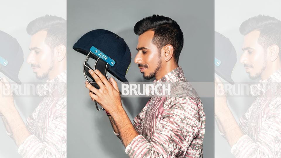29-year-old Yuzvendra Chahal is totally inspired by the style of Ranveer Singh; Location: Hilton Garden Inn Gurgaon Baani Square; art direction: Amit Malik; styling: Avneet Chadha; styling assistant: Tanya Aggarwal; make-up: Artistry by Anjali Jain; hair: Hakim's Aalim; jacket by Dhruv Vaish