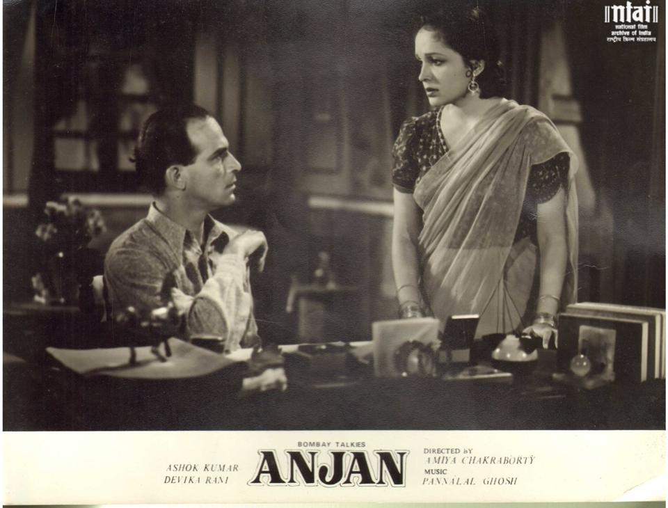 Devika Rani, who co-produced Anjan with her husband Himanshu Rai, also starred in it opposite Ashok Kumar. Her life story is the subject of the play Devika Rani Goddess of the Silver Screen! which includes new details of her extraordinary life.