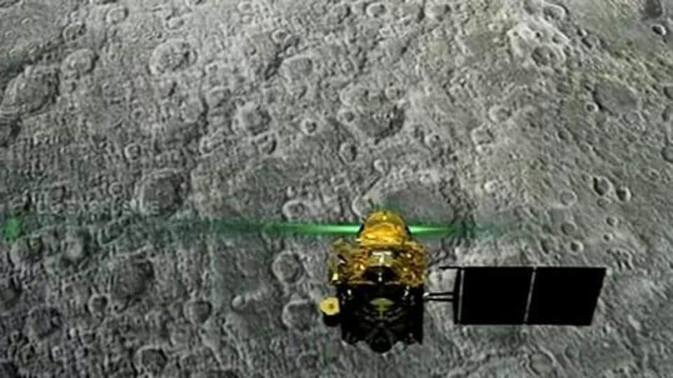 Live telecast of soft landing of Vikram module of Chandrayaan 2 on lunar surface in Bengaluru.