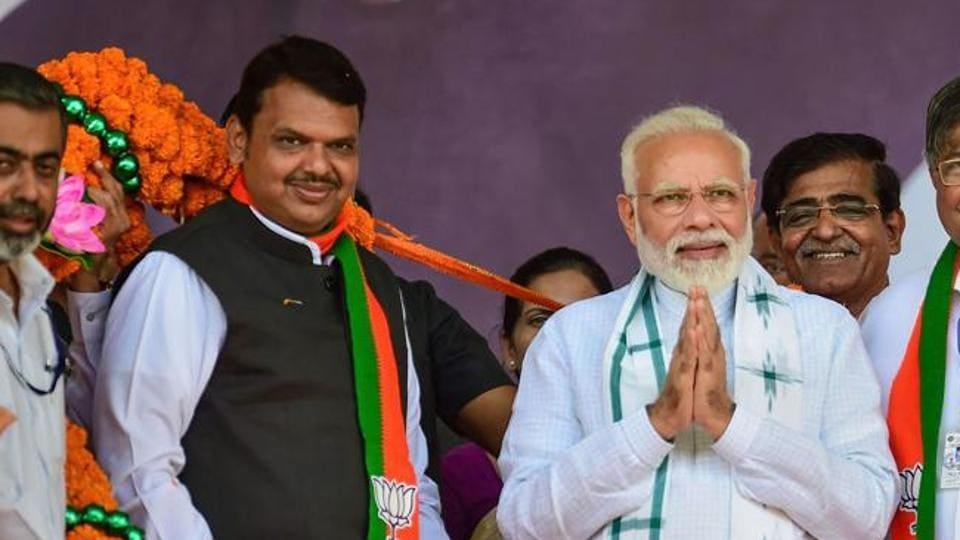Prime Minister Narendra Modi with Maharashtra CM Devendra Fadnavis