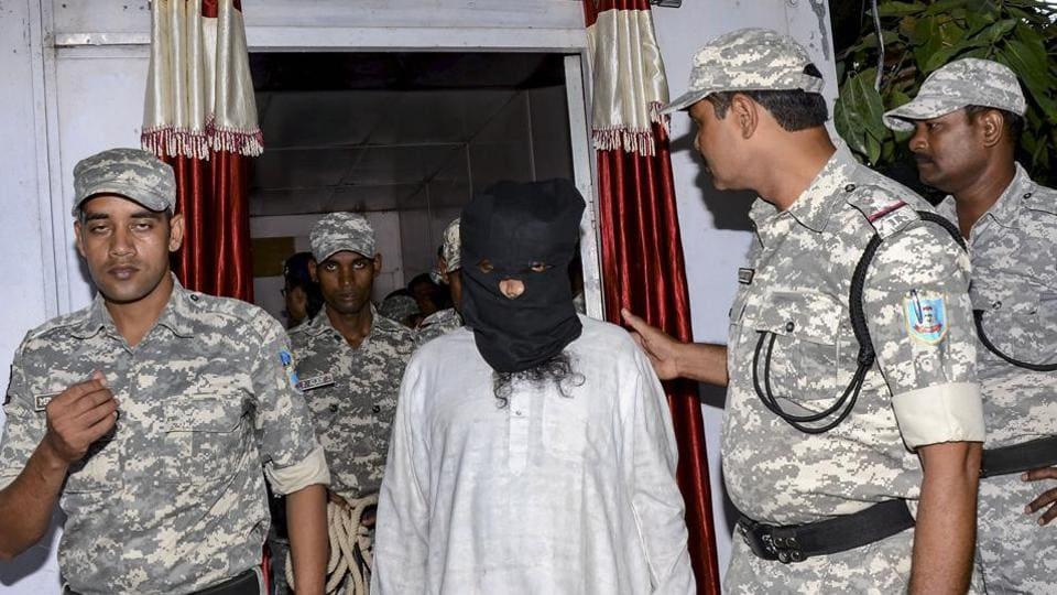 Al-Qaeda terrorist Mohammad Kalimuddin Mujahiri, arrested by Anti Terrorist Squad (ATS) from Azad Nagar in Jamshedpur