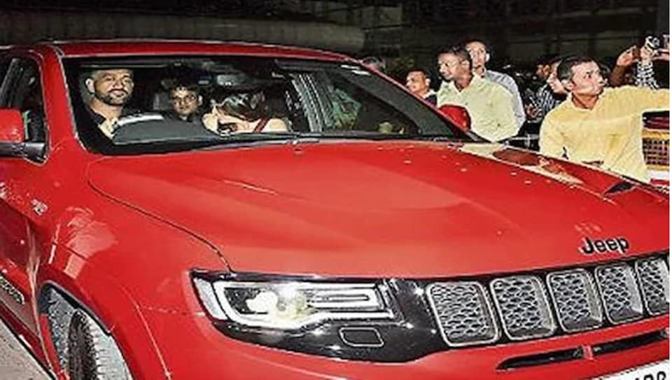 MS Dhoni in his new car