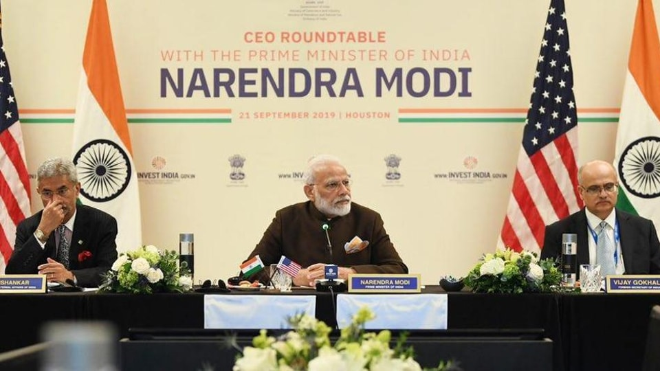 PM Modi attended a roundtable with 17 CEOs of energy companies that were together worth $1 trillion and had operations in more than 150 countries, including India (Narendra modi/twitter)