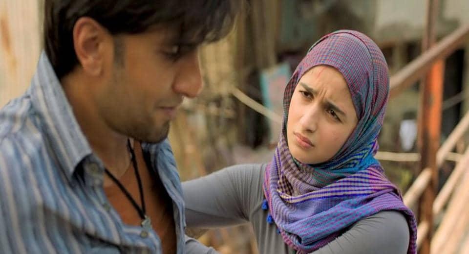 Ranveer Singh and Alia Bhatt in a still from their film, Gully Boy.