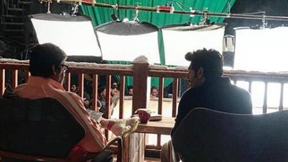 Amitabh Bachchan and Kartik Aarayn reportedly shot for an ad.