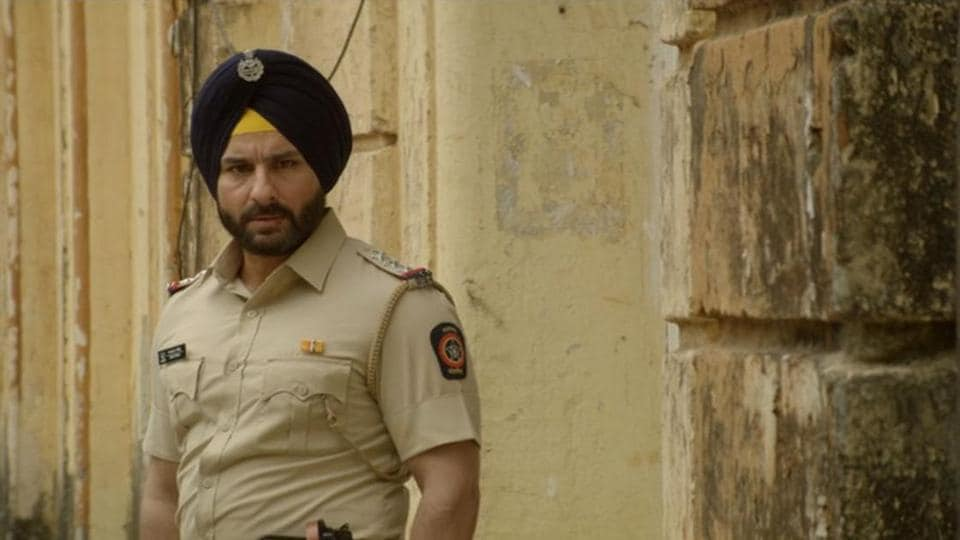 Saif ALi Khan plays the lead character of police officer Sartaj Singh in Sacred Games.
