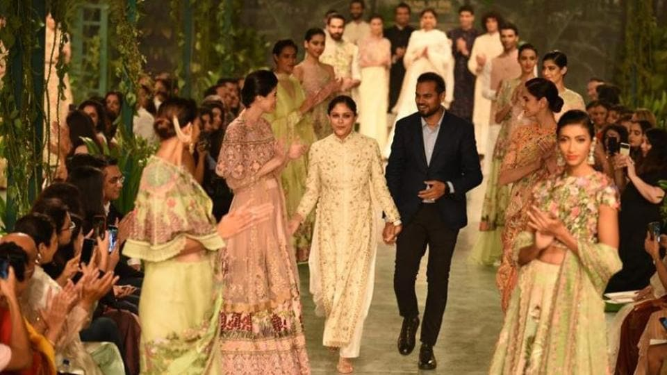 Rahul Mishra during his show on the fourth day of India Couture Week 2018.