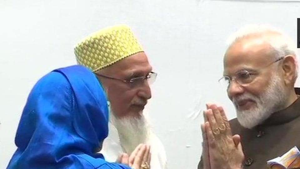 PM Modi interacting with members of the Dawoodi Bohra community in Houston.