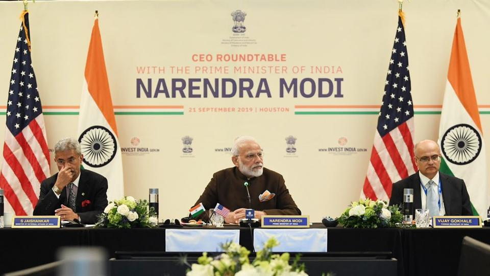 Ahead of the Howdy, Modi event, PM Narendra Modi met top energy sector CEOs at a roundtable meeting on Saturday.