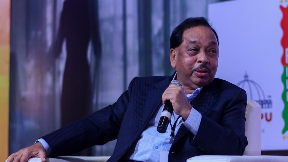 Narayan Rane at the seventh Pune International Literary Festival at Yashada in Pune, India, on Saturday.