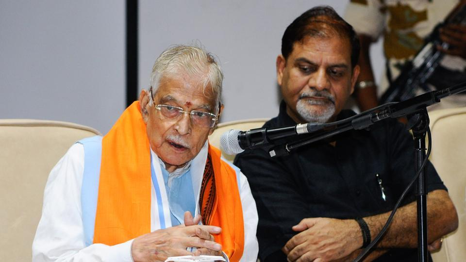 Former Union minister Murli Manohar Joshi during a session on environmental issues at Panjab University in Chandigarh on Saturday.