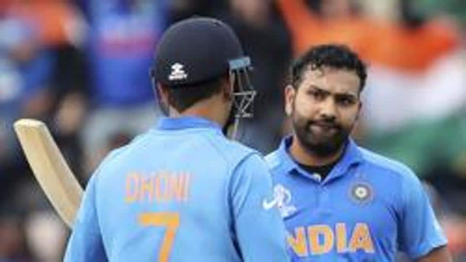 File photo of Rohit Sharma and MS Dhoni.
