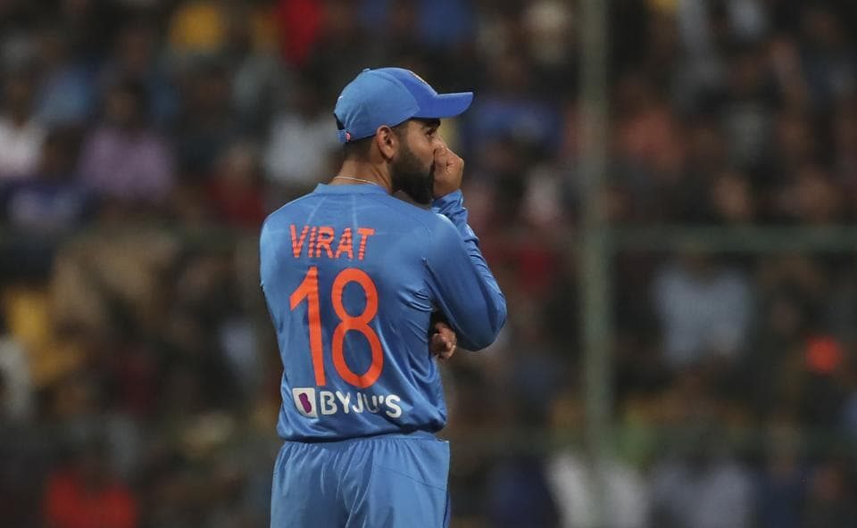 India's captain Virat Kohli reacts after an unsuccessful review for the wicket of South Africa's captain Quinton de Kock. (AP)