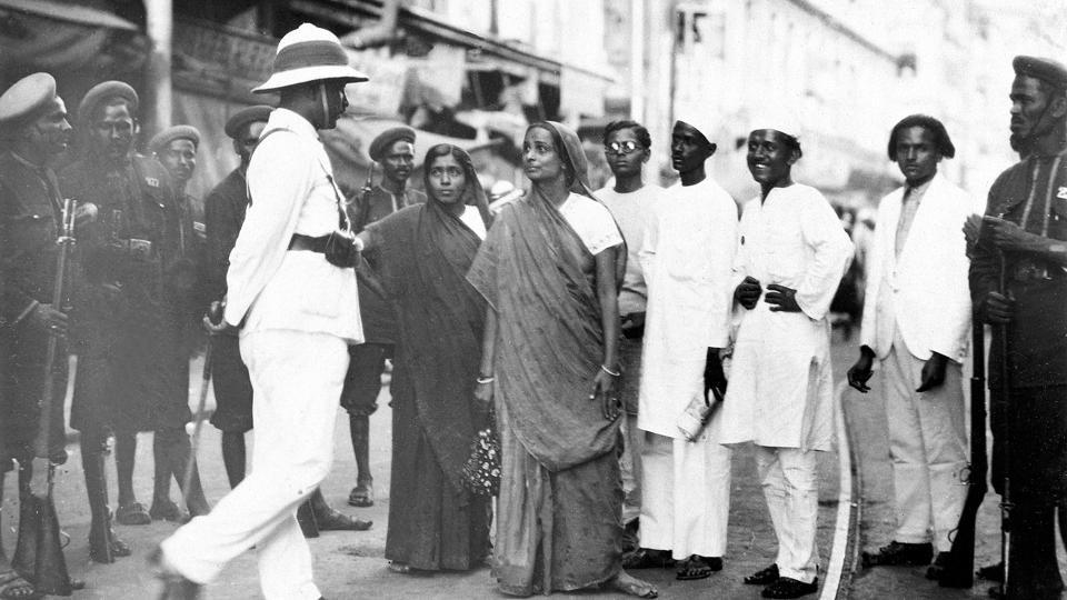 Woman demonstrators during Quit India movement 1942