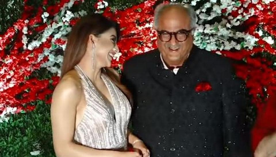 Boney Kapoor and Urvashi Rautela at the wedding.