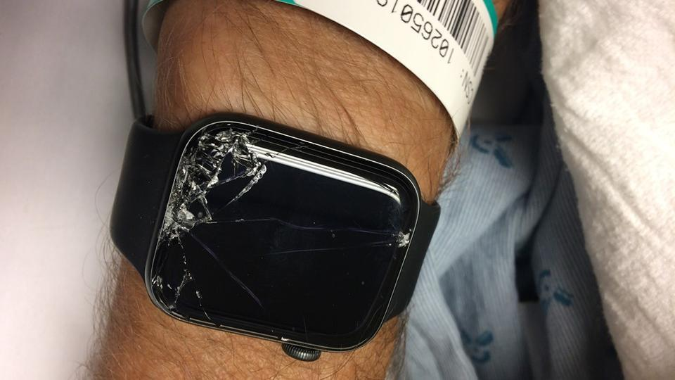"""""""Amazing technology and so glad he had it!"""" says Facebook user Gabe Burdett who posted about the incident."""