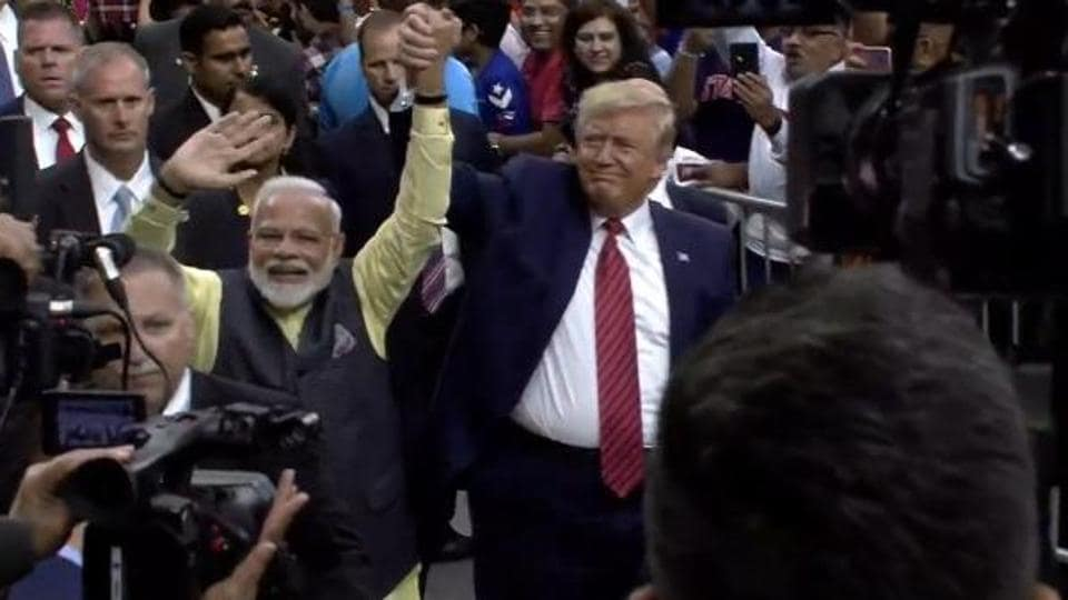 Addressing over 50,000 Indian-Americans at the packed NRG stadium, PM Modi said it was an honour and privilege for him to welcome President Trump to the magnificent stadium.
