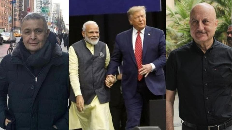 Howdy Modi: Rishi Kapoor and Anupam Kher were among several Bollywood celebrities who cheered for PM Narendra Modi.