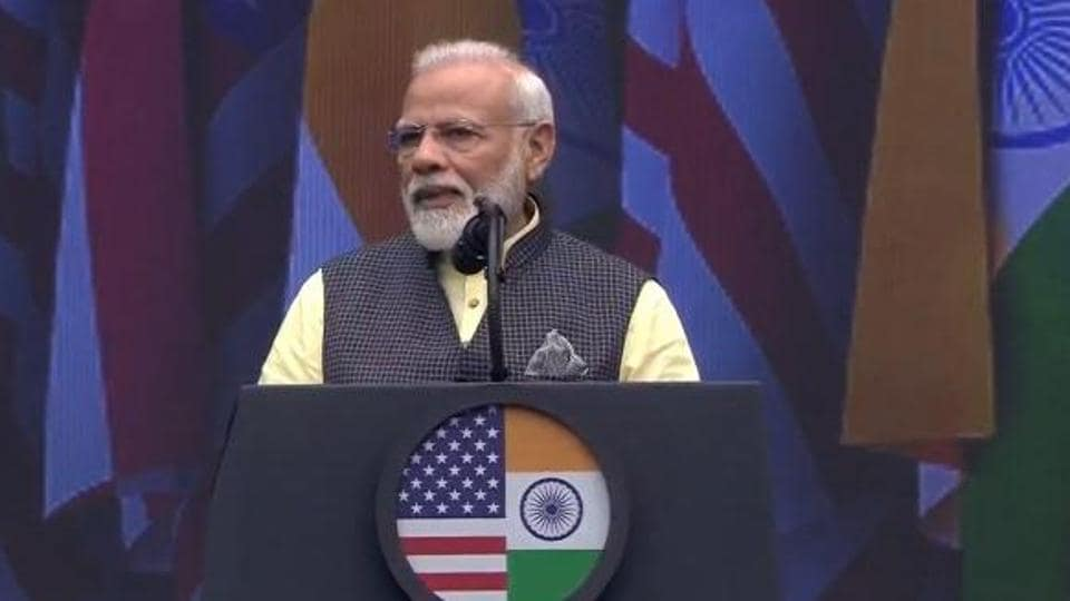 Prime Minister Narendra Modi was speaking at 'Howdy, Modi!'—the mega event of the Indian American community held at Houston city's NRG stadium on Sunday.