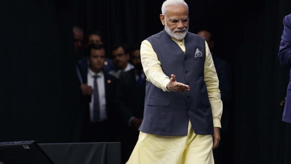 Prime Minister Narendra Modi opted for his staple ensemble for the mega event 'Howdy Modi!' in Houston, Texas.