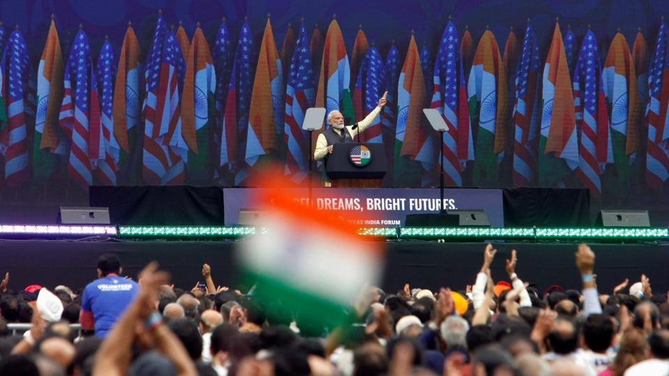 Indian Prime Minister Narendra Modi speaks during a