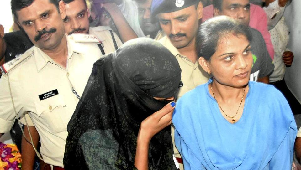 Monica Yadav, one of the accused in honey trap gang case  who  was arrested on Thursday.