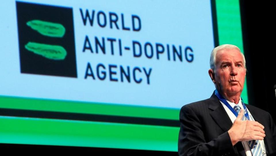 Craig Reedie, President of the World Anti Doping Agency (WADA) attends the WADA Symposium in Ecublens.