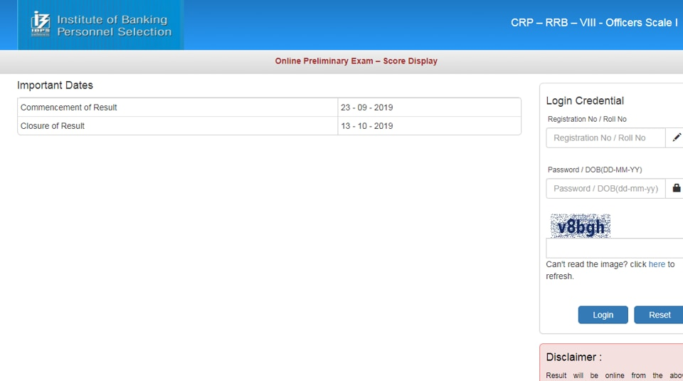 Candidates who clear the IBPSRRBPrelims exam will have to appear for main examination. (Screengrab)